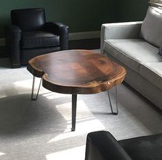 "Industrial Metal Tapered Coffee Table Leg 16"""