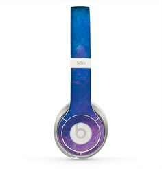 The Blue & Purple Pastel Skin for the Beats by Dre Solo 2 Headphones