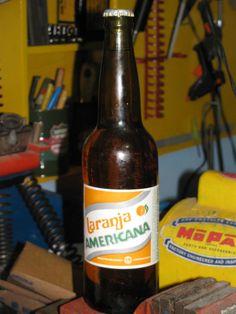 Garrafa Antiga Laranja Americana  (Soda Bottle, Coke, Pepsi, Grapette, Gini, Crush, Tab, 7Up, Sprite...)