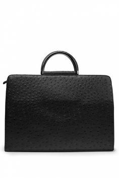 Milan - Hello Monday! Ostrich Office Bag in Black Hello Monday, Sophisticated Style, Milan, Designer Handbags, Women Wear, Designer Bags, Designer Purses, Advanced Style