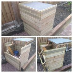 DIY Garden storage idea