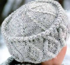 Winter hat with pattern Knitting Stitches, Hand Knitting, Knitting Patterns, Knit Crochet, Crochet Hats, Scarf Hat, Knitting Projects, Knitted Hats, Creations