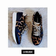 LONDON print - leather sneakers