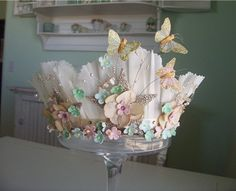 crown with butterflies!