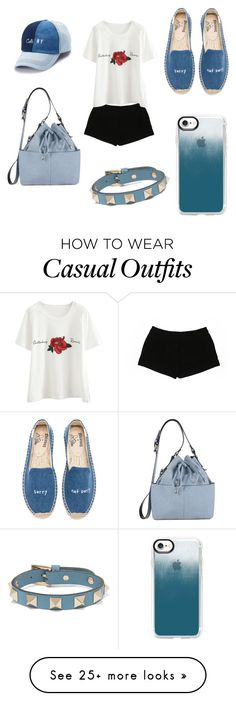 """""""Casual look"""" by miloni-jhaveri on Polyvore featuring Express, Soludos, Miss Selfridge, SO, Valentino and Casetify"""
