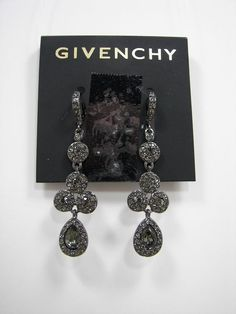 Givenchy Hematite Crystal Chandelier Earrings NWT MSRP $48 #Givenchy #DropDangle Only $37.99 with free shipping!