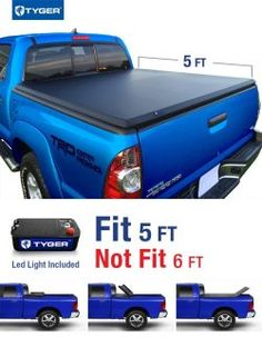 Tyger Auto Tri-Fold Pickup Tonneau Cover (Fits Toyota Tacoma Double Cab 5 feet inch) Cargo Bed Tonno Cover (NOT For Stepside)) Toyota Tacoma Double Cab, 2017 Toyota Tacoma, Best Truck Bed Covers, Tri Fold Tonneau Cover, Chevy Astro Van, Truck Bed Camping, Automotive Solutions, Pickup Covers, Passat B6