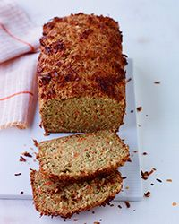 This delicious quick bread features carrot, zucchini and shredded sweetened coconut.
