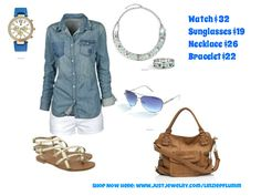 Beautiful in Blue!! Get ready for warmer weather with this simple outfit paired perfectly with some fantastic accessories! SHOP NOW HERE www.justjewelry.com/linziepflumm