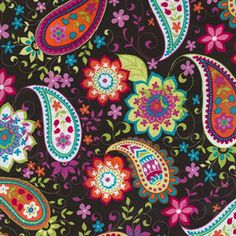 Michael Miller CX 4745 Cocoa Paisley Spree chocolate brown CUSTOM LISTING for dal2010