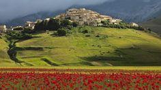 The spectacular Castelluccio landscape in Umbria, Italy. Photo: Eric Van Den Brulle