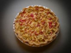 Rhubarb custard pie...wonder if it's as good as my Gramma's...