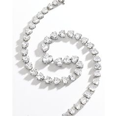 Platinum and Diamond Necklace. Of graduated Diesel nine, 49 heart shaped diamonds, ranging in size from .56 to 3.43 carats weighing a total of 55.39 carats.