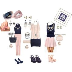 """Pinks & Inks #3"" by chloe-and-isabel-sarah-bordenet on Polyvore"