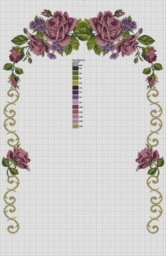 This Pin was discovered by Zey Wedding Cross Stitch Patterns, Cross Stitch Flowers, Cross Stitch Alphabet, Cross Stitch Embroidery, Cross Art, Flower Patterns, Table Runners, Needlework, Embroidery Designs