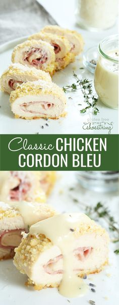 Your whole family will love every bite of these bundles of boneless chicken wrapped around ham and cheese, then breaded and baked. Gluten free chicken cordon bleu with a simple mustard cream sauce is your family's new favorite dinner!