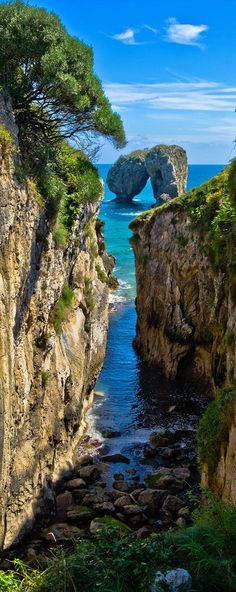 La Canalina, a small inlet in the Llanes coast, Asturias, Spain (by guillenperez). Places Around The World, Travel Around The World, Around The Worlds, Places To See, Places To Travel, Travel Destinations, Beautiful World, Beautiful Places, Beautiful Scenery