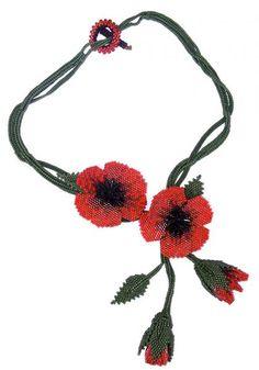 Pams Poppy Necklace
