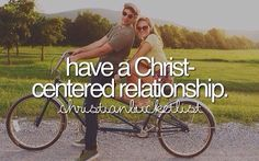 Top of my bucket list! And bucketlist check! My current boyfriend for 4 years now is a Christian and we always put Christ as a center in our relationship.