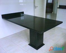 mesa de granito base e parede