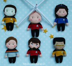 baby mobile star trek mobile happy birthday star trek ceiling gift for new baby neutral mobile star trek baby gender neutral cartoon wars Baby Wall Art, Nursery Wall Art, Birthday Star, Happy Birthday, Crafts To Do, Felt Crafts, Unique Baby Cribs, Star Trek Characters, Baby Crib Mobile