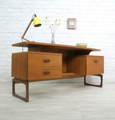 G Plan Retro Vintage Teak Mid Century Danish Style Desk Dressing Table 1950s 60s