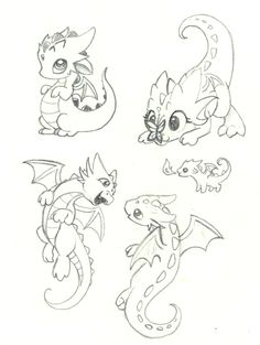 #6 Just some playful kid dragons! :D More #baby_dragon_tattoo