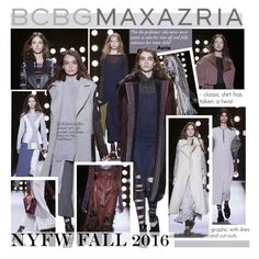 """NYFW Fall 2016-BCBG Max Azria"" by kusja ❤ liked on Polyvore featuring BCBGMAXAZRIA, women's clothing, women, female, woman, misses, juniors, NYFW, fashionWeek and fashionshow"