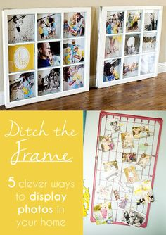 Ditch the frame! 5 different ways to display your photos around the house http://www.ehow.com/ehow-tech/blog/unique-ways-to-display-photos-home/?utm_source=pinterest&utm_medium=fanpage&utm_content=blog&crlt.pid=camp.PGX7ZOEFwSJy
