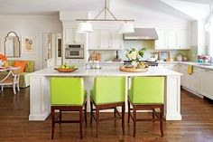 Lime and Citrus Kitchen Makeover