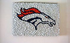 Denver Broncos Bottle Cap Art by Unprecedented on Etsy, $145.00