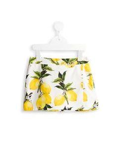 lemon print shorts