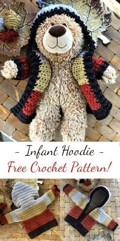 Infant Hoodie [Free Crochet Pattern] Adorable crochet hoodie for kids #crochetpattern #crocheting #freepattern