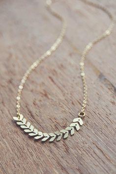 boho dainty chevron necklace. by bellehibou on Etsy
