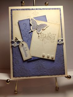 Inspired by Holly Melanson on Splitcoaststampers. Bliss with Wisteria and Crumb Cake with Vanilla **photo only