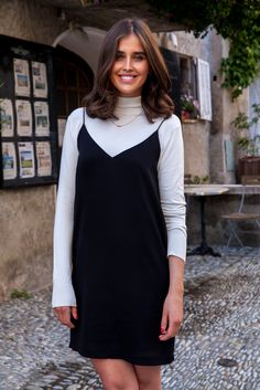 Darja Barannik, Fashion editor at STYLEmag Magazine, in Samsøe & Samsøe Mano dress & t-neck.