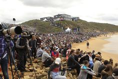 Easter in Victoria, where annual tradition sees surf fans and families flock to Bells Beach for the Rip Curl Pro, no matter the weather. Photo: Ryan