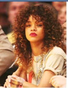Rhianna love the curls