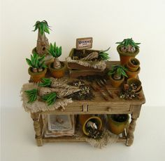 ♥.·:*¨¨*:·. Mandrakes by Nikki Rowe---nice idea to translate into a potting table. .·:*¨¨*:·.