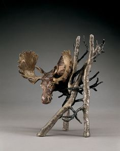 Solitude (small) - A bronze sculpture by Mark Hopkins  9x8 inches