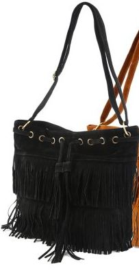 e121b4b11b Women Imitation Suede Fringe Tassel Shoulder Bag Handbags Messenger Bag