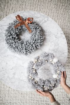 Pom Pom Wreath DIY — Treasures & Travels