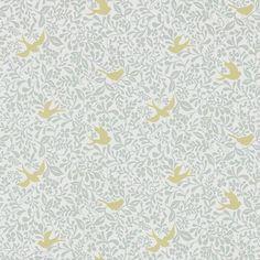 Larksong Dove / Honey wallpaper by Sanderson