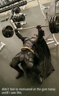 That's light weight for Batman