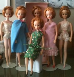 A few of my Brenda Starr girls, and one Yolanda in the Blue cocktail dress.  Collection of JP Patrick