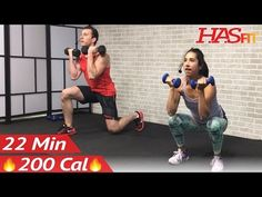 22 Min HIIT Strength and Cardio Workout at Home - Cardio and Strength Training Workouts - Weight - YouTube