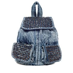 Street Level All Studs Denim Backpack