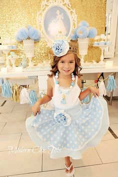 Cinderella DressUp Apron Costume Halloween Party by ModernChicTots, $75.00