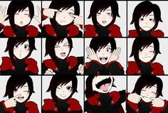 The Many Faces of RWBY by ~Dustiniz117 on deviantART One simply cannot laugh at these faces