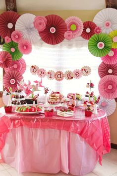 Amazing Strawberry Shortcake birthday party! See more party planning ideas at CatchMyParty.com!